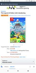 Link's Awakening [Switch] @ Amazon.fr voor €42,34