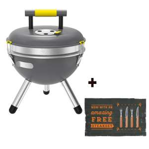 Jamie Oliver Park Houtskool barbecue inclusief gratis 4 delige steak set @ Bol Plaza