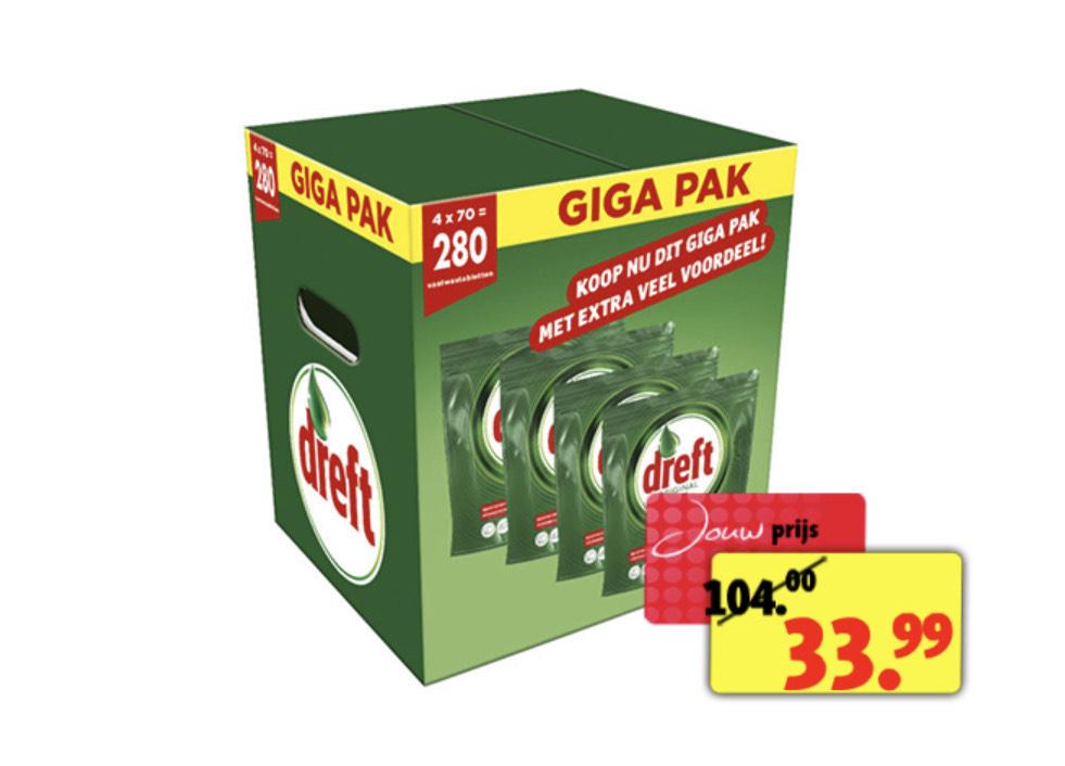 Giga Pak Dreft van €104 voor €34.99