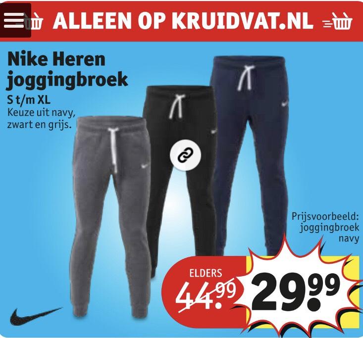 Nike heren joggingbroek S -XL van €44.99 voor €29.99
