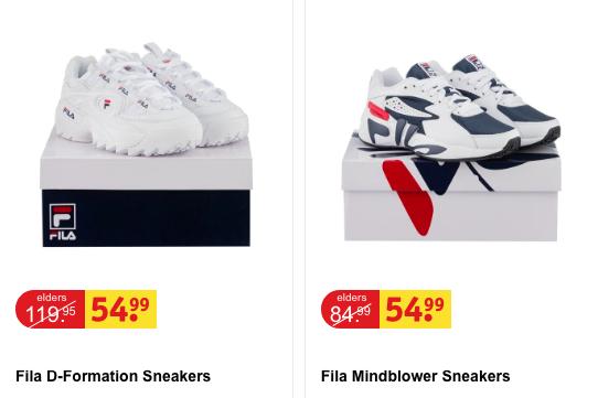 Dames Fila sneakers voor 54,99