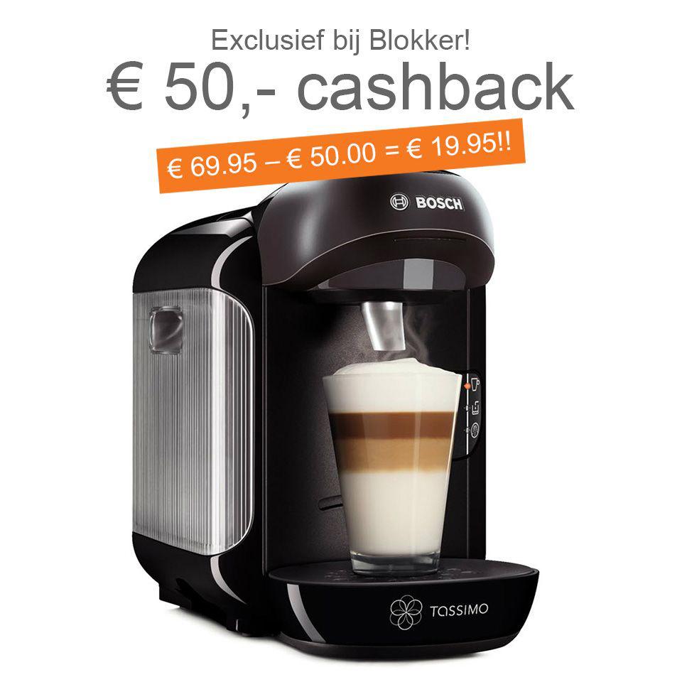 Bosch Tassimo TAS1252 voor €19,95 na cashback @ Blokker