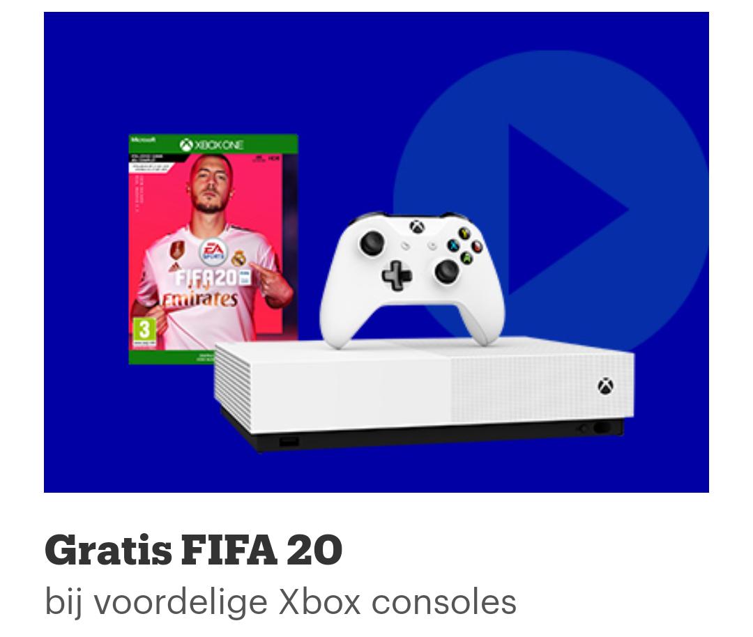 Gratis FIFA 20 bij veel xbox consoles (bijv. All Digital 1TB console) @ Bol.com