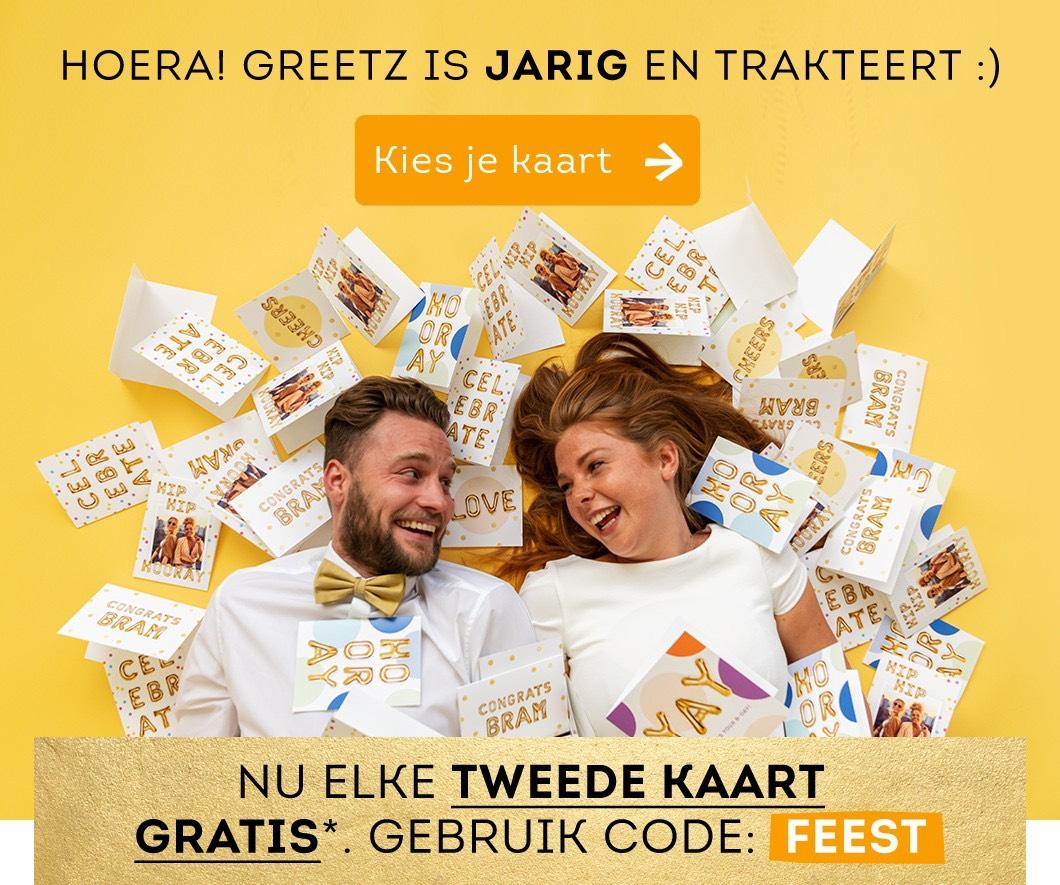 Elk tweede kaartje gratis t.w.v. €2.85 @ Greetz