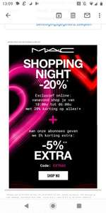Shopping night bij MAC cosmetics