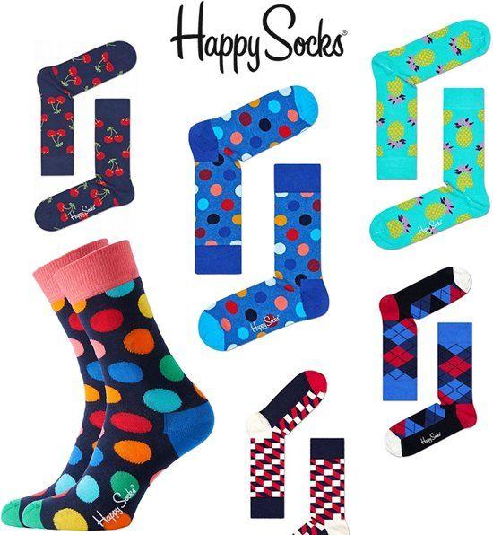 Happy Socks met korting. Bol.com, dekamarkt, trekpleister