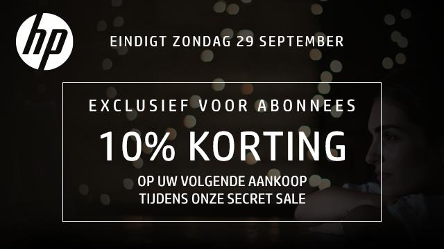 10% korting op alles @ HP Store