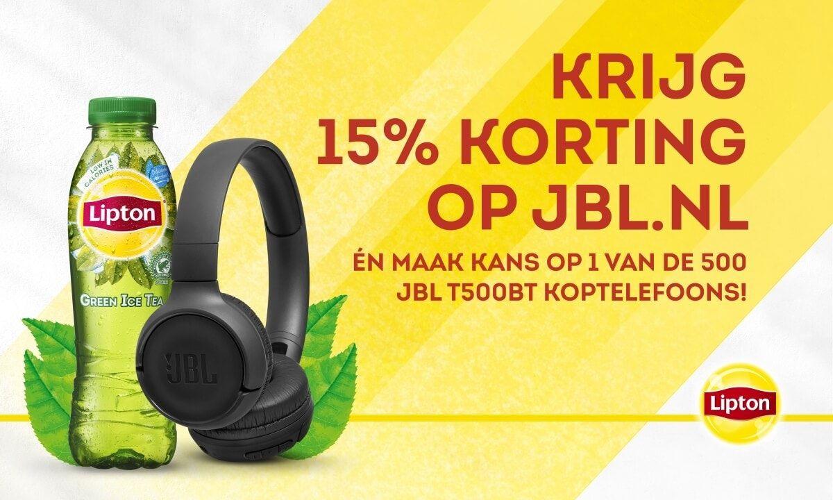 Voor €0,63 een 15% korting bij JBL voucher
