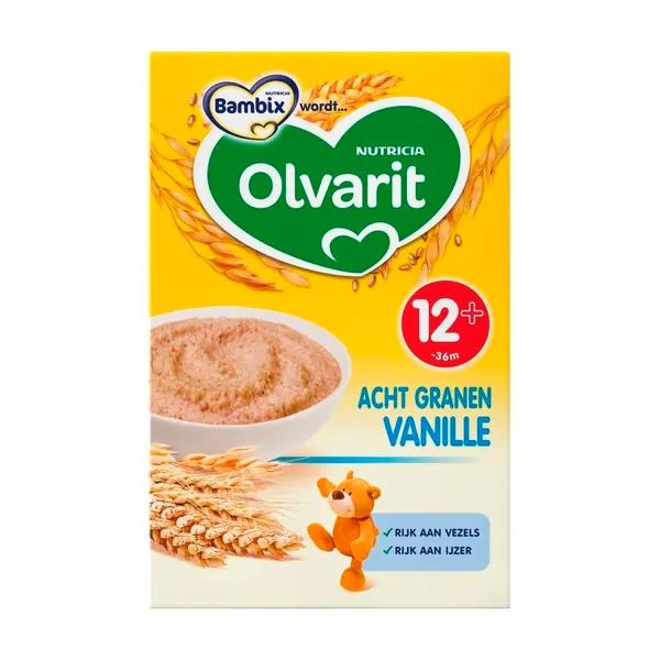Gratis pak Olvarit 8 granen bij koop 2 pakken Nutrilon bij de Kruidvat.