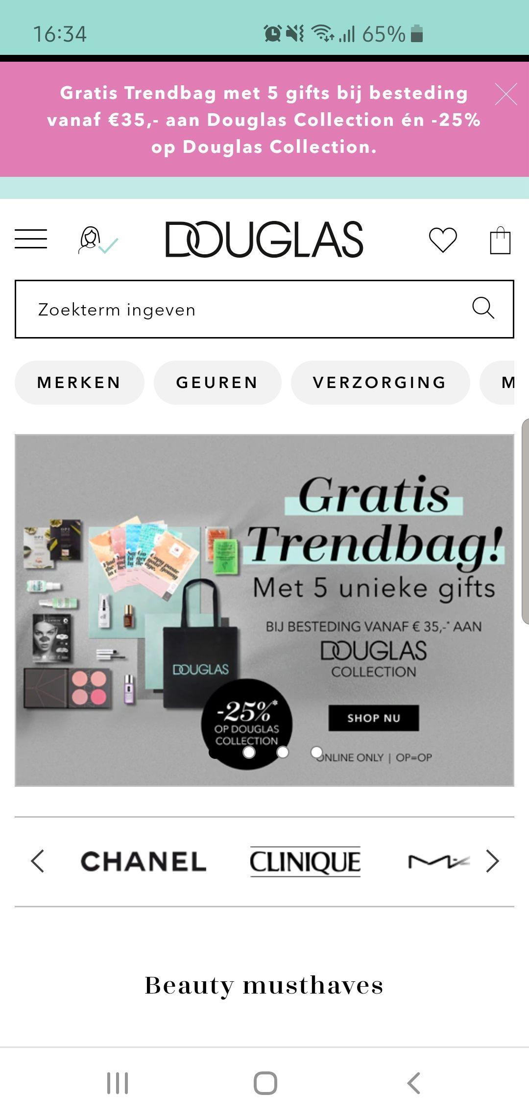 Gratis trendbag met 5 gifts
