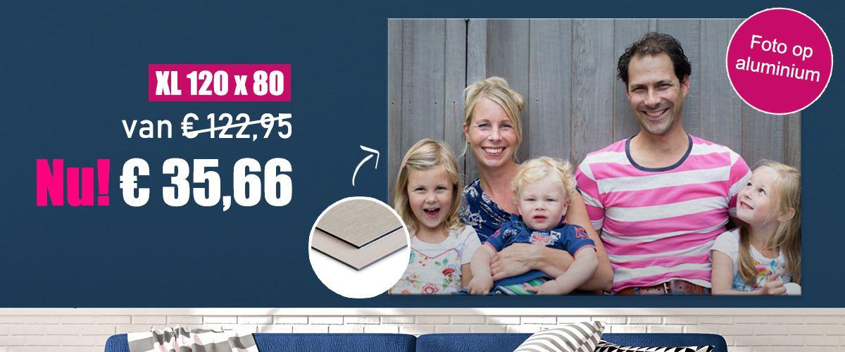 Foto op aluminium 120x80 - Van €122,95 voor €35,66