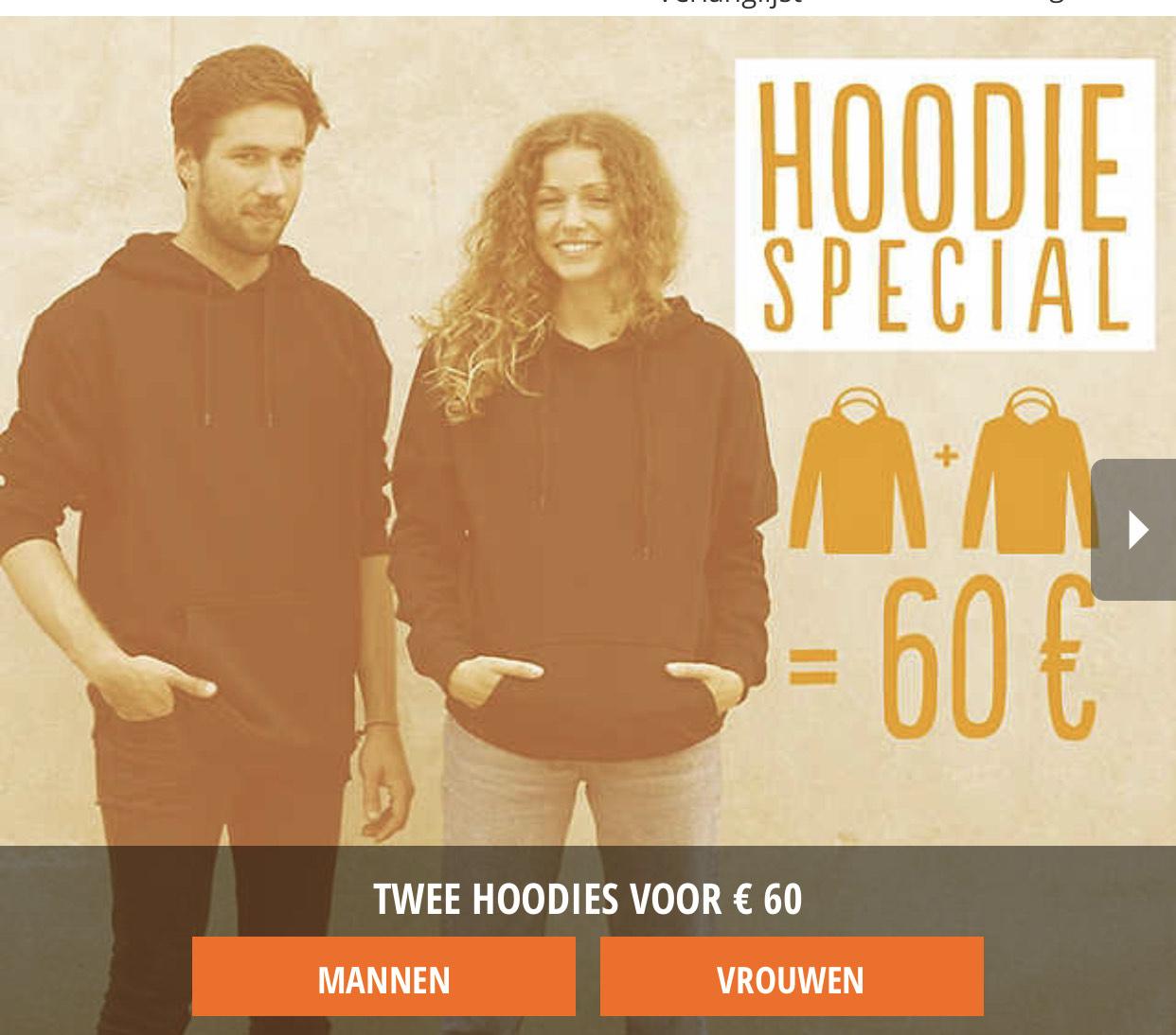 Hoodie Special 2 top merken hoodies voor 60,- @Blue-Tomato