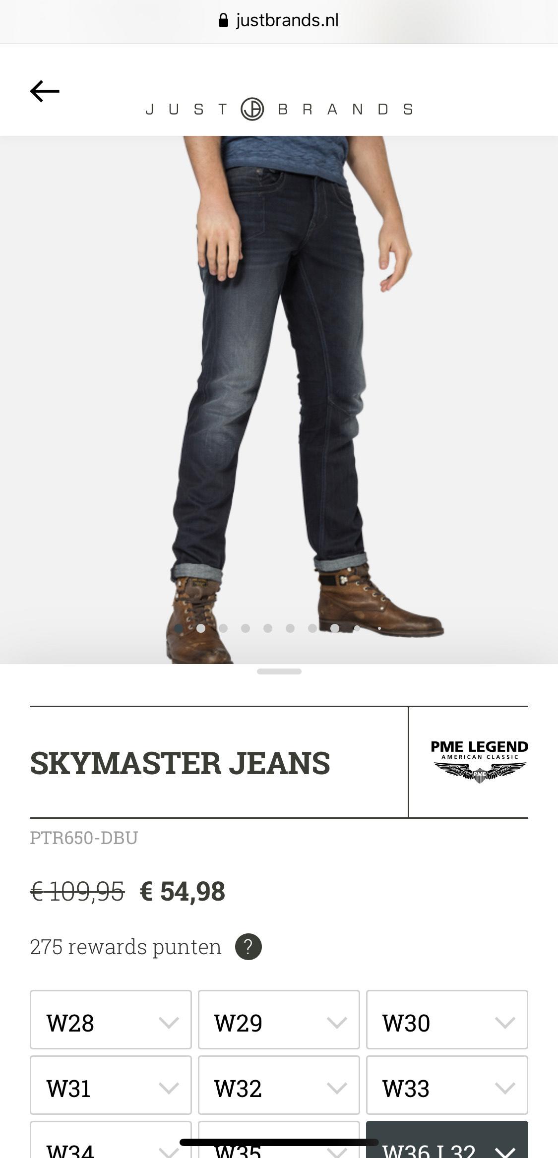 Verschillende PME jeans met 50% korting