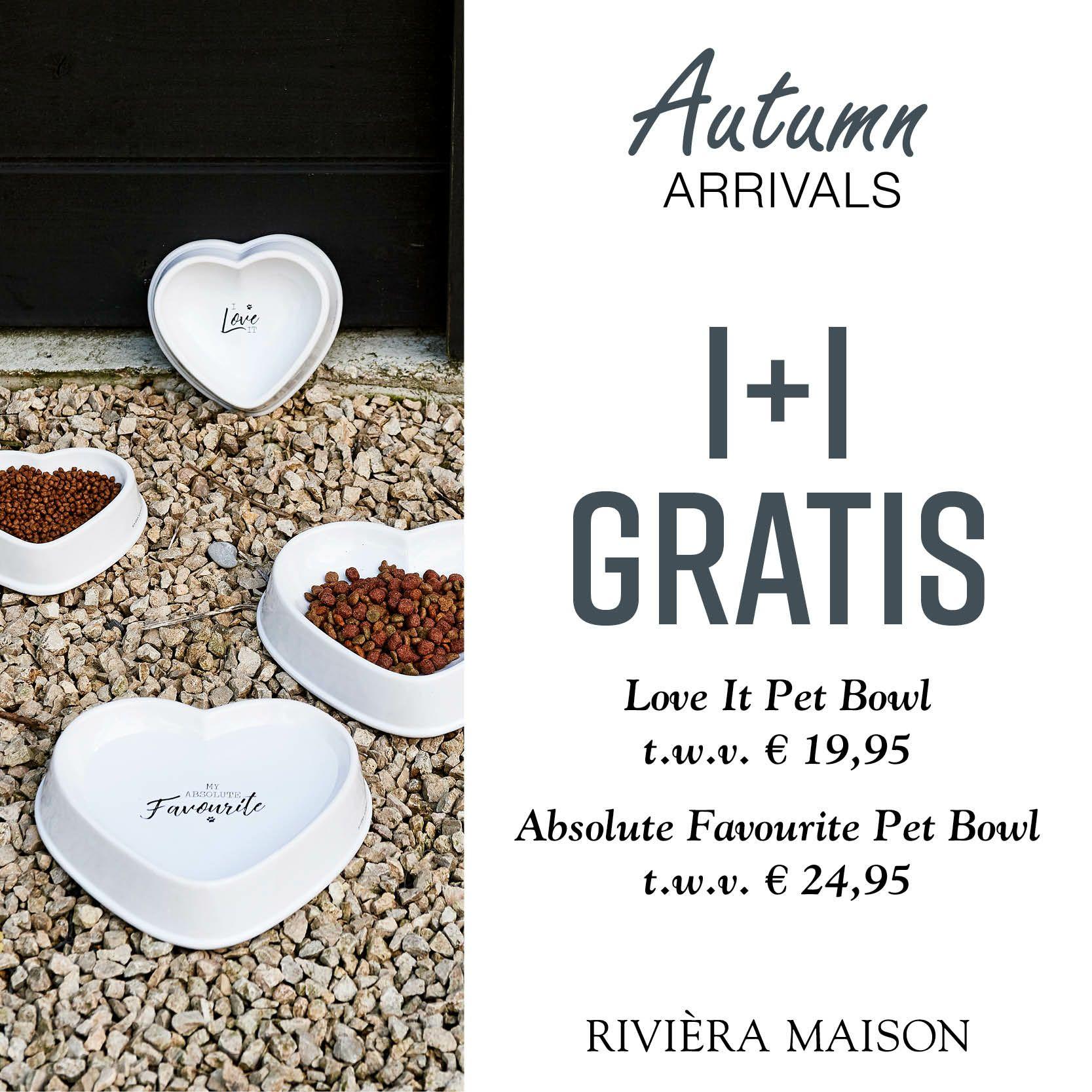 Riviera Maison Pet Bowl 1+1 gratis