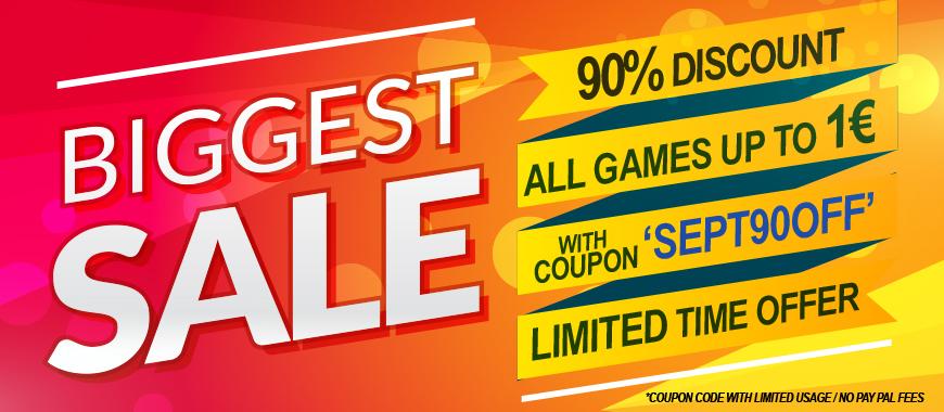 90% korting op games onder 1 euro @Gamivo.com
