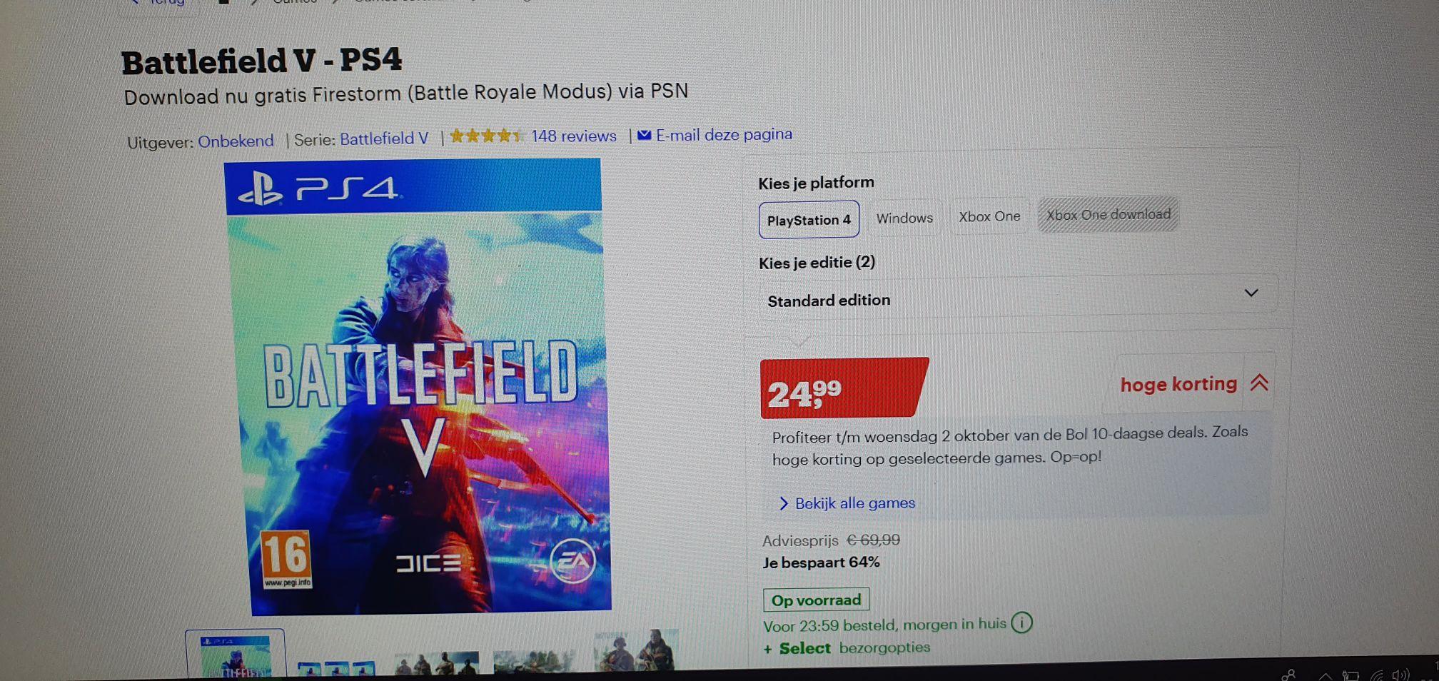 Battlefield 5 standaard en deluxe