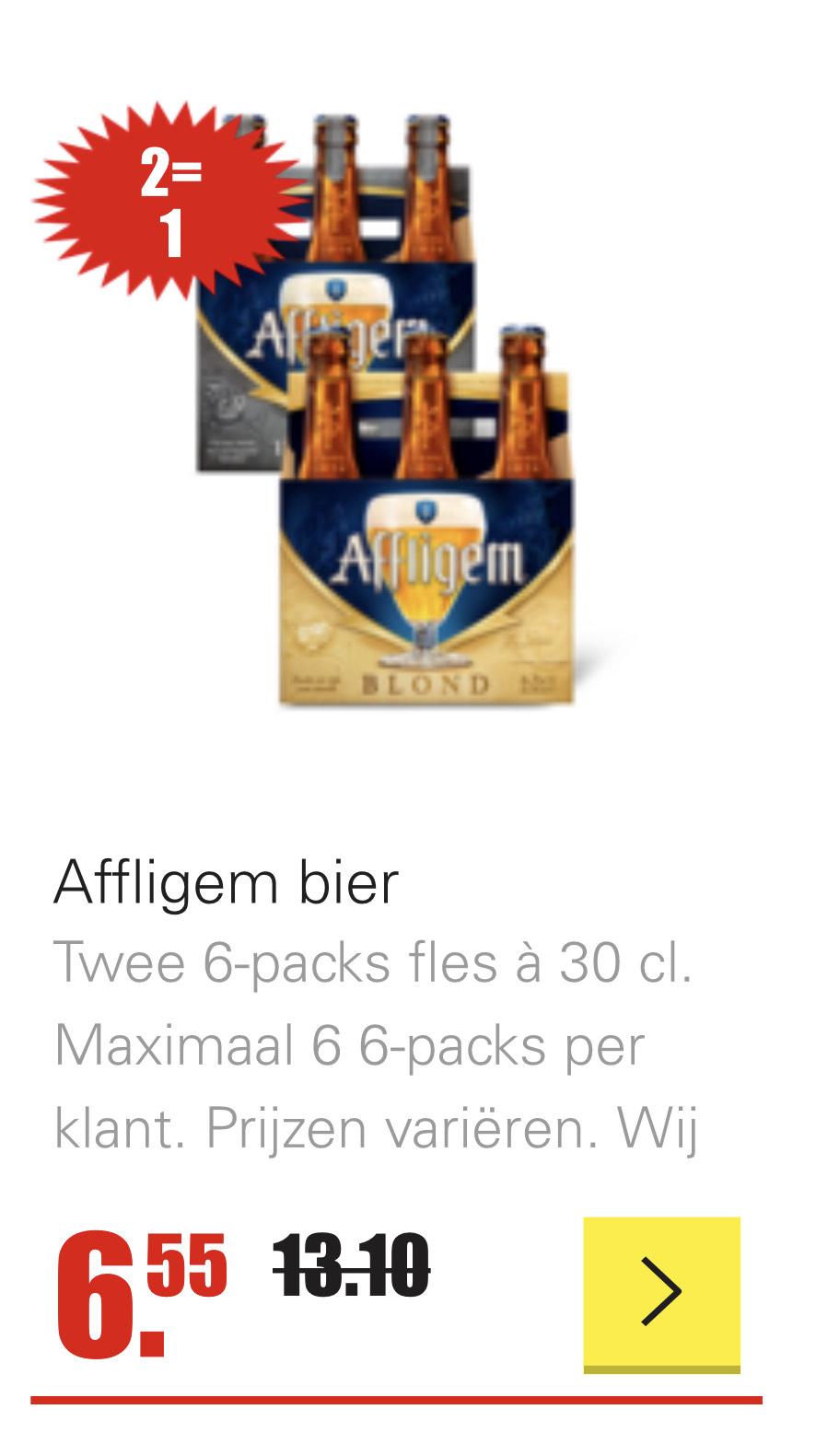 2=1 Diverse soorten Affligem bier bij Dirk