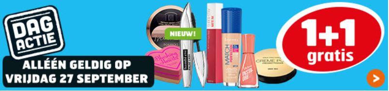 Vandaag: make-up 1+1 GRATIS @ Trekpleister