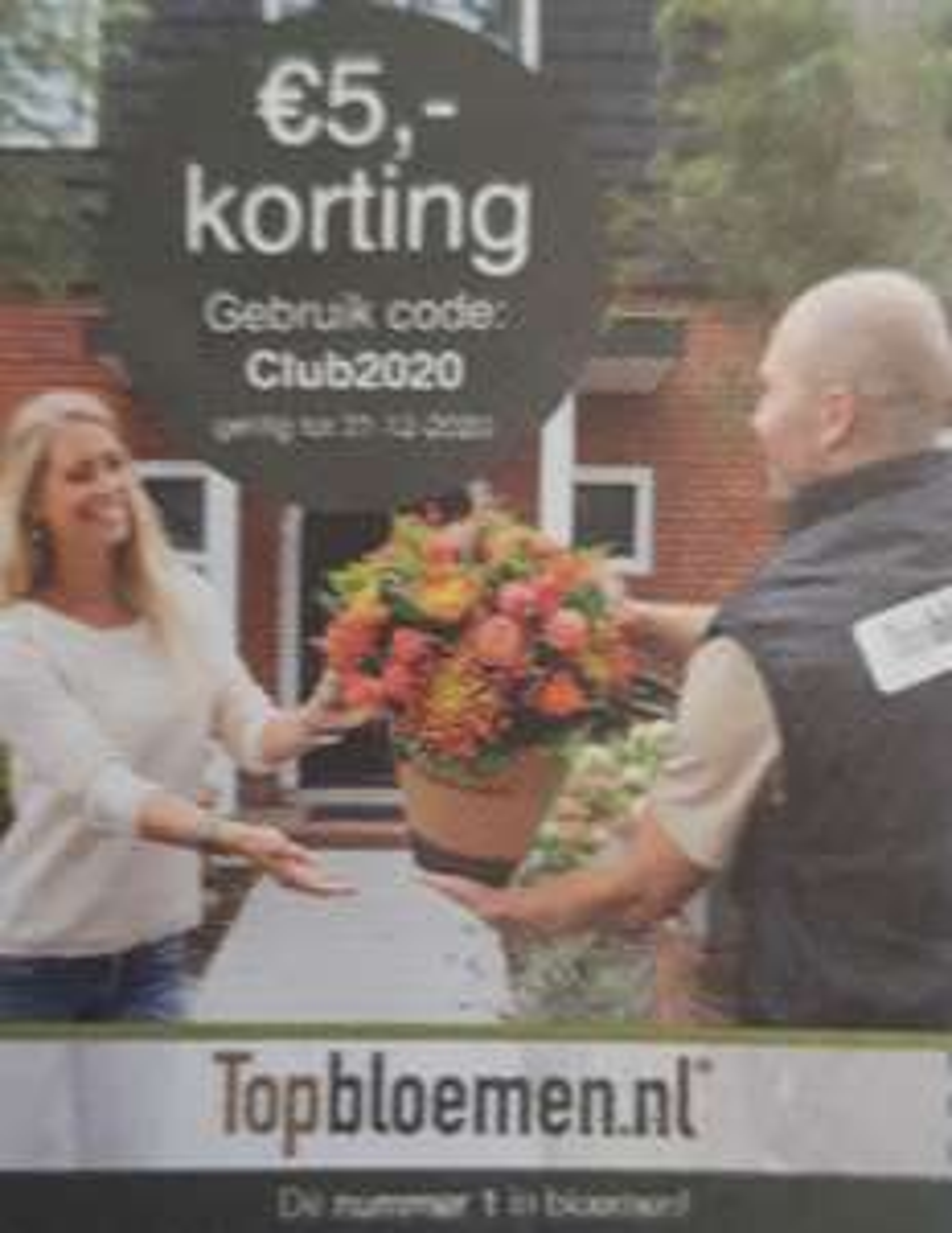 [Topbloemen.nl] €5,- korting