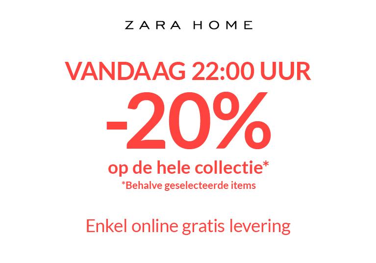 Vanaf vanavond 22:00 20% korting op bijna alles bij Zara Home