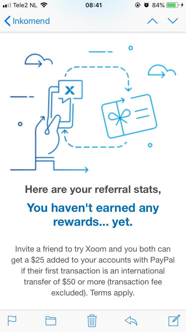 (Gratis geld) $25 euro bij overschrijving Xoom(Paypal)