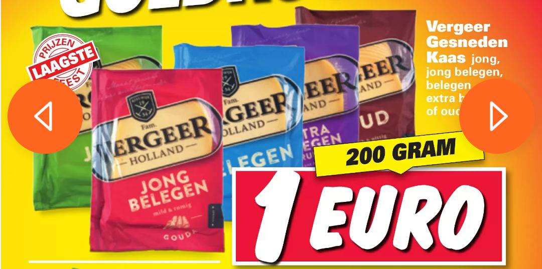 400 gram kaas voor €1 bij Nettorama