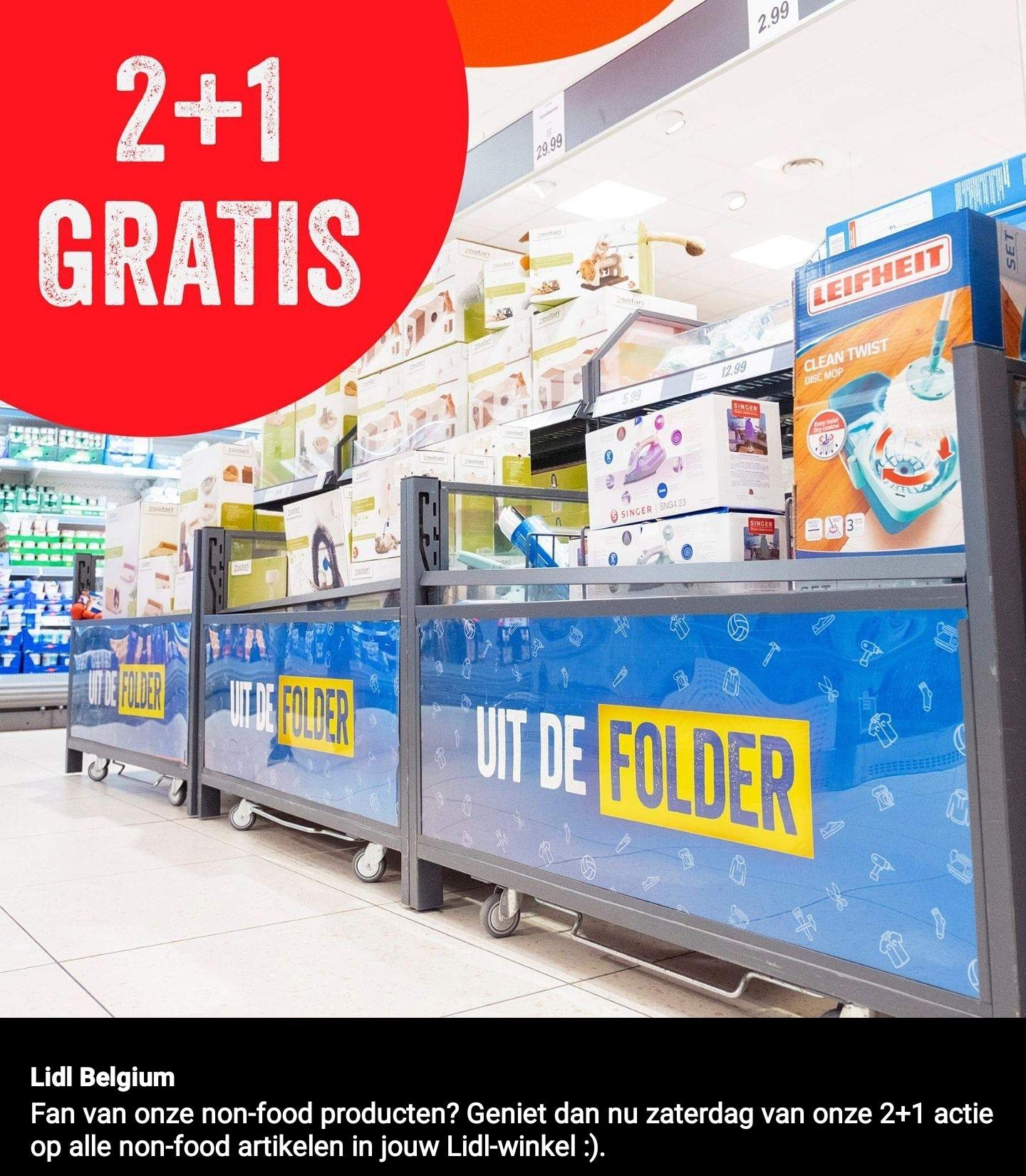 BE (Grensdeal) LIDL 2+1 gratis op alle non-food