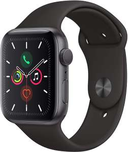Apple Watch Series 5 (44mm) Space Gray aluminium zwarte sportband voor €397,52 @ Amazon.it