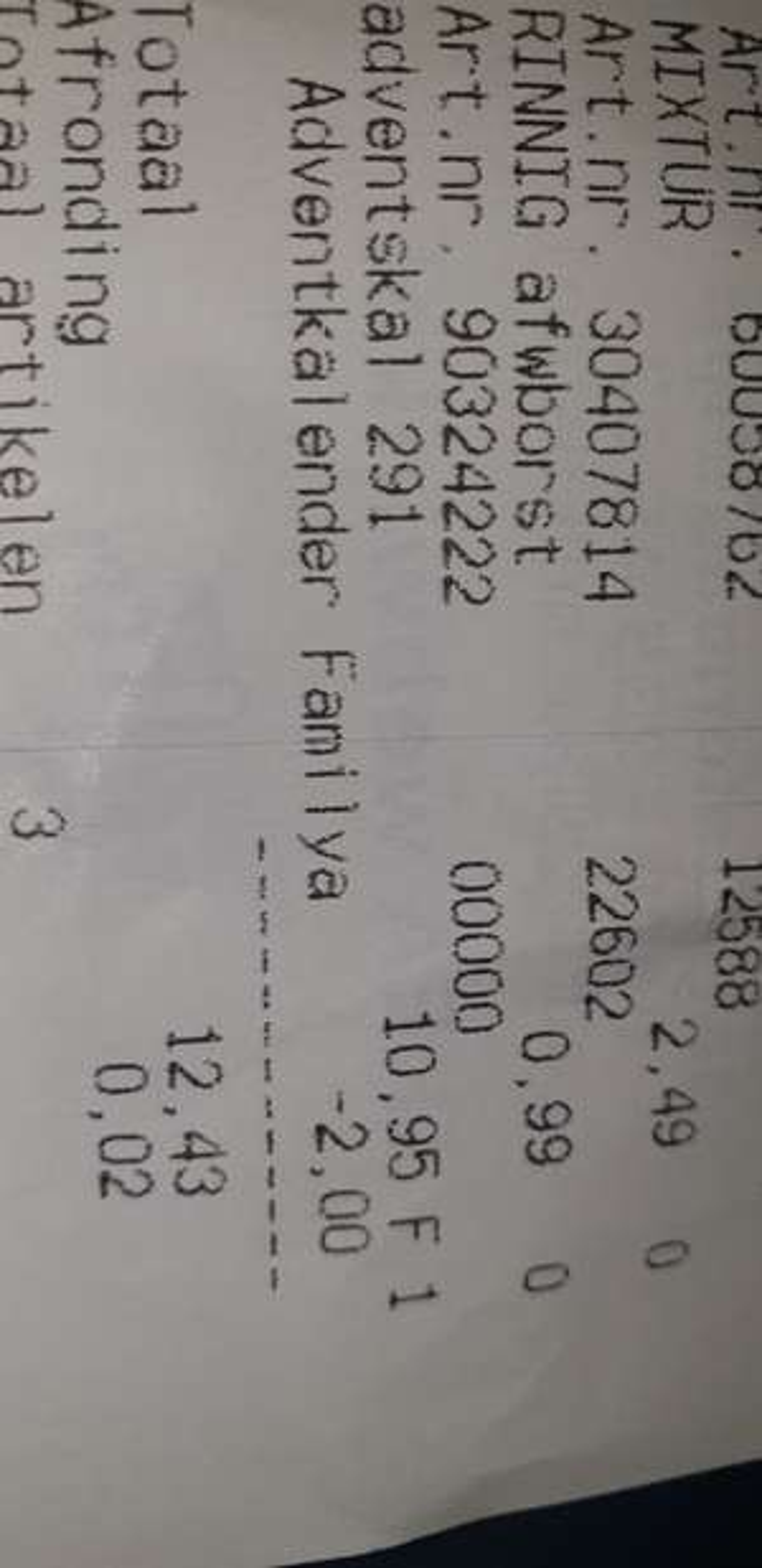 Prijsfout? 8.95 Ikea advent kalender met 10 euro aan kadokaarten en bon bons