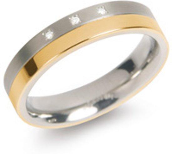 Boccia 0129-04 ring verguld met diamant voor €28,79 @ Bol.com