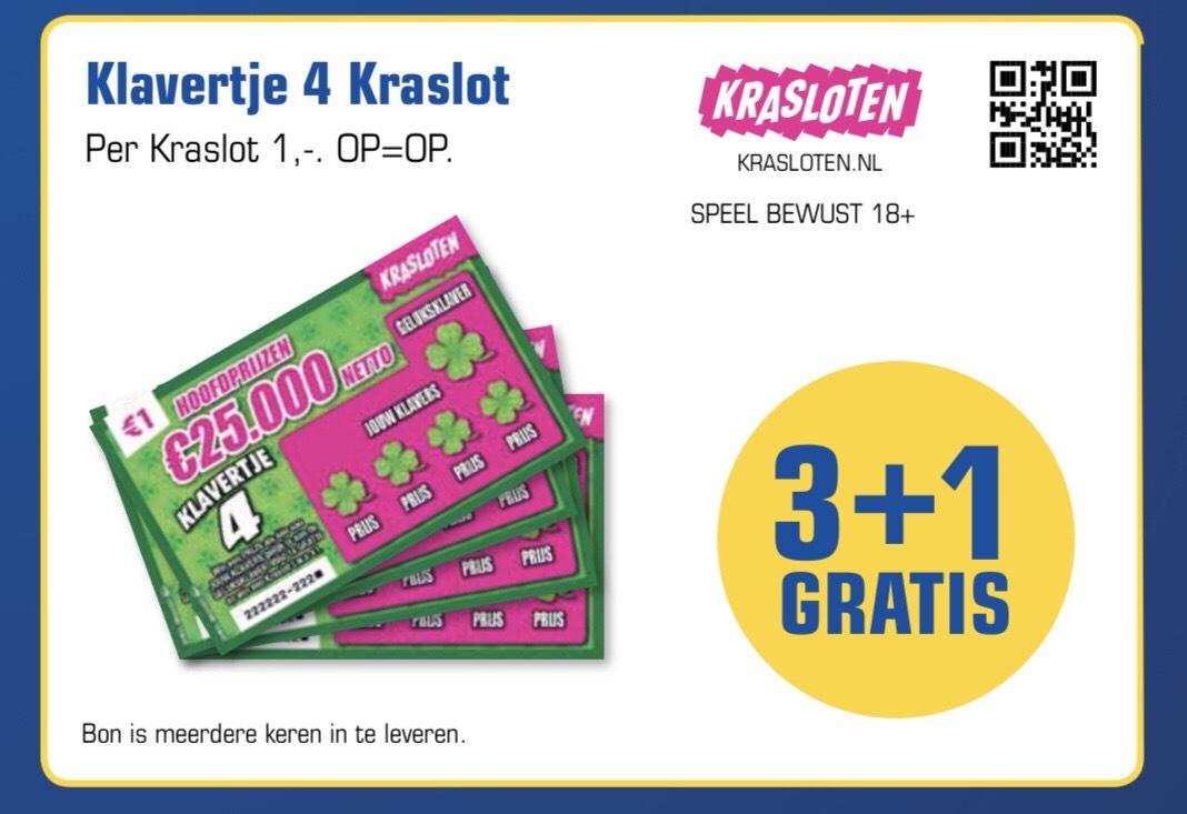 3+1 gratis kraslot bij Primera (7 Klapper en Klavertje 4)