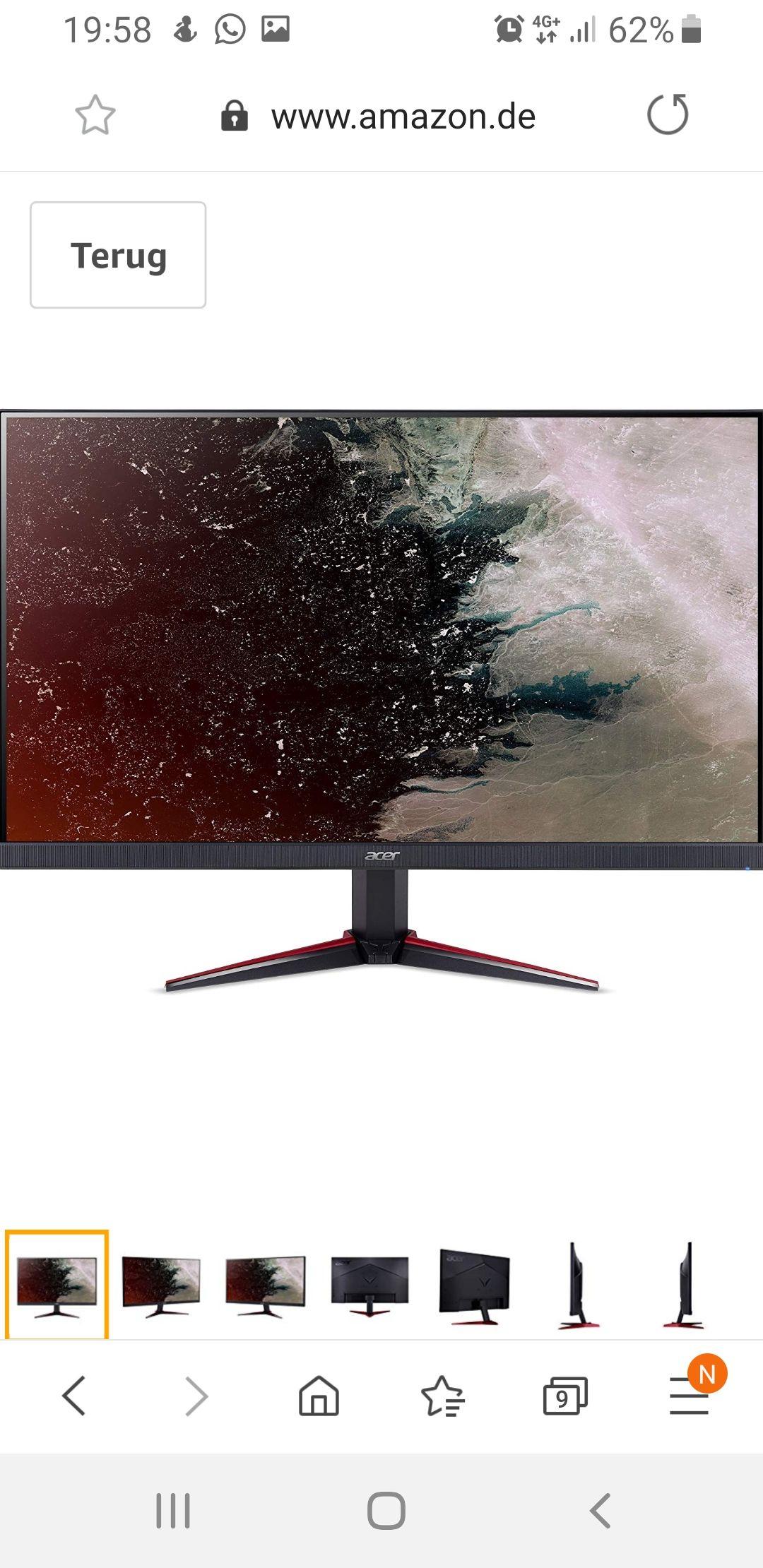 Acer Nitro VG240Y (IPS, 1ms, Full HD)