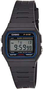 Casio F-91W-1 horloge (unisex) [Amazon.de]