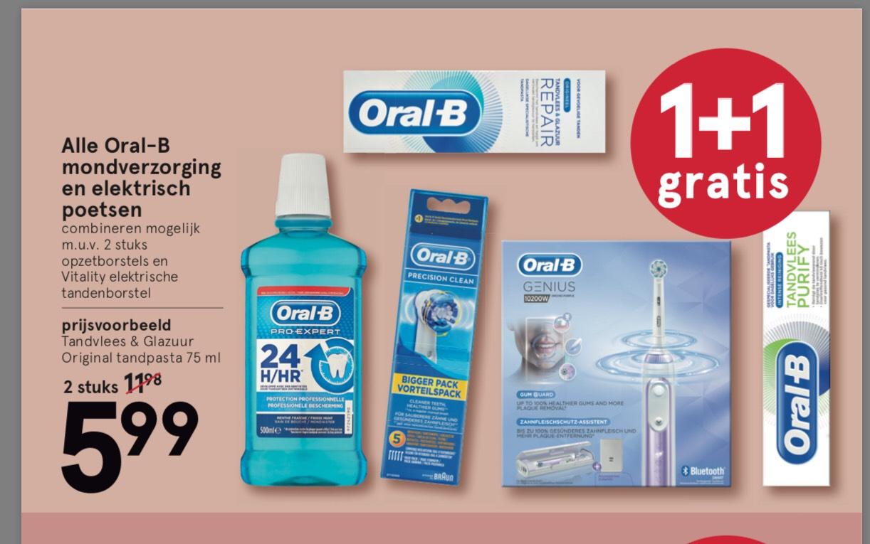 Oral B 1+1 gratis (Etos)