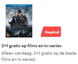 2+1 gratis op films en tv-series @Bol.com