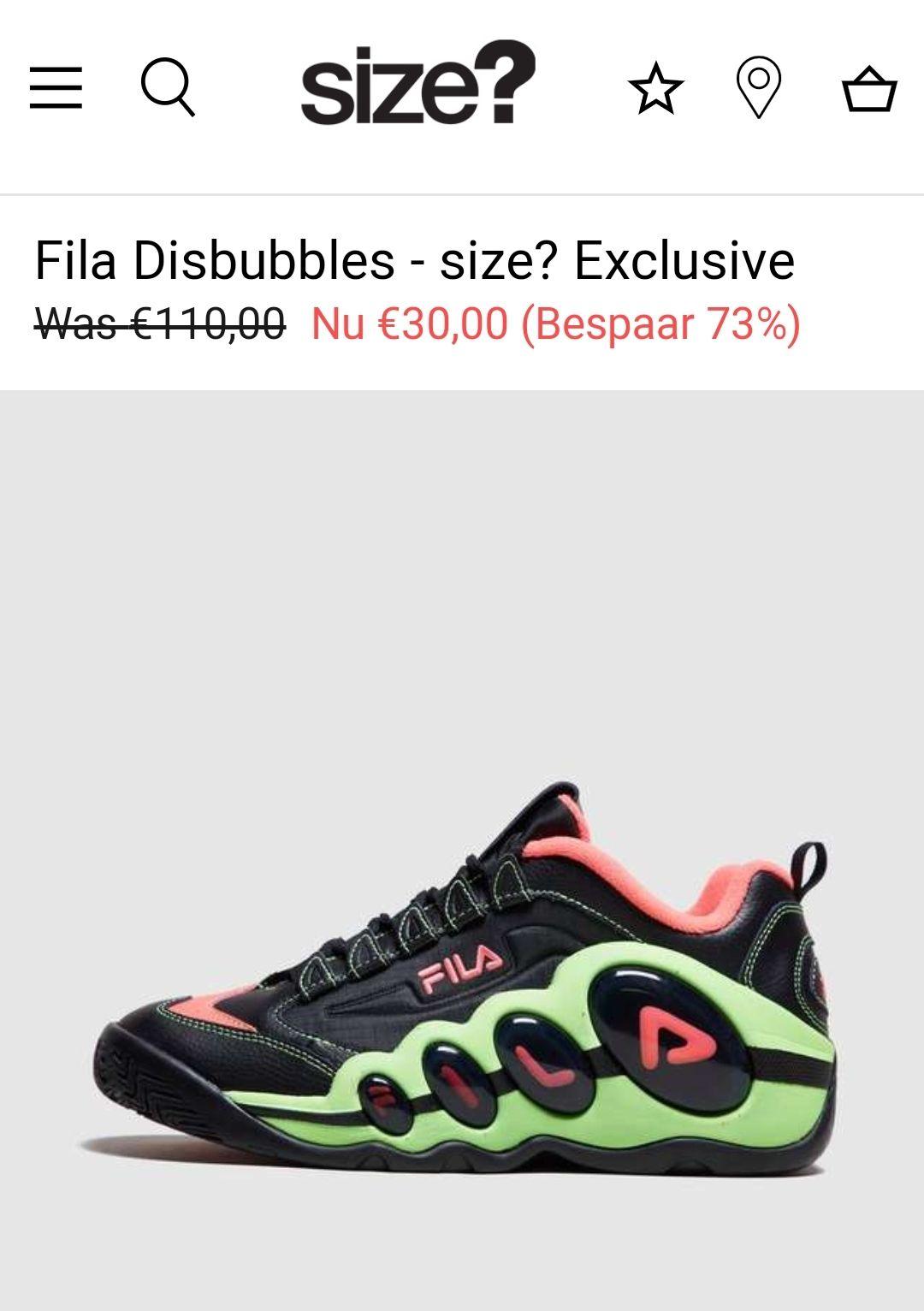 Fila Disbubbles van 110 euro voor 30euro