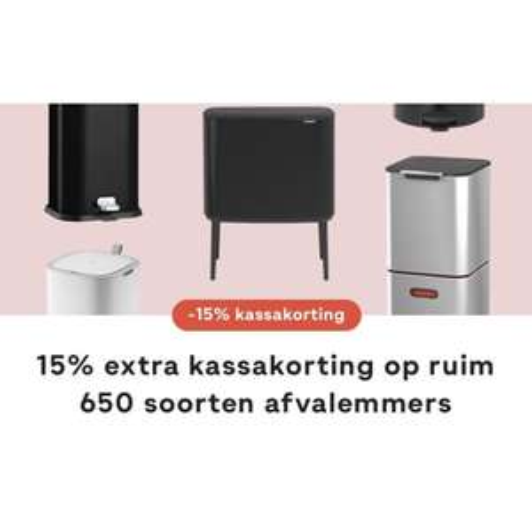 Nu 15% extra korting op heel veel afvalemmers | @fonQ.nl