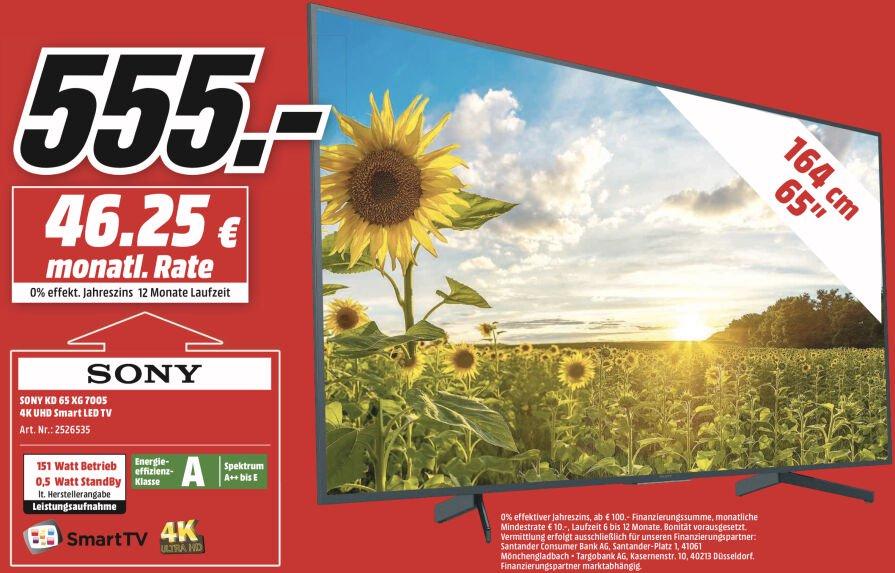 "[München DE] SONY KD 65"" 4K UHD Smart LED TV voor 555€"