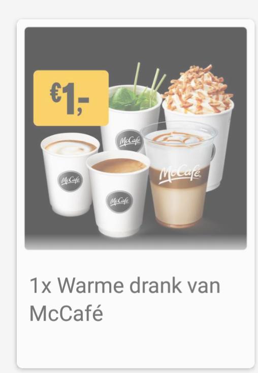 1 (luxe) warme drank voor €1 bij McDonald's Mccafe