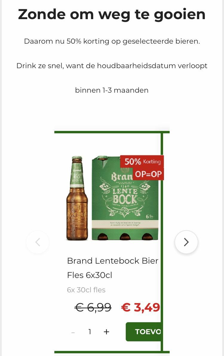 Verschillende bieren 50% korting @Drinkies