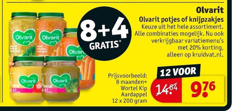 Olvarit potjes voeding 8+4