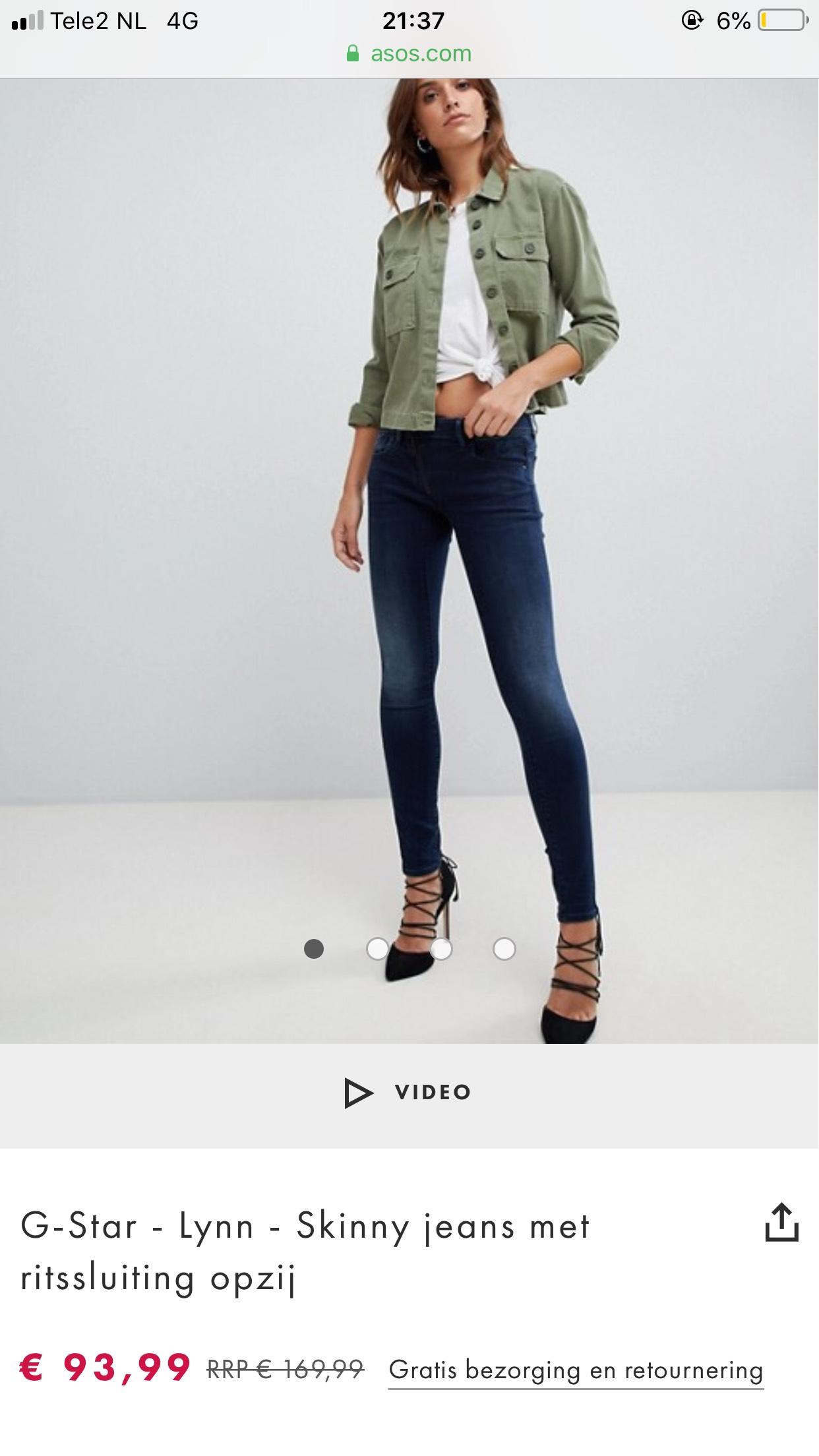G-Star - Lynn - Skinny jeans met ritssluiting opzij (Asos).