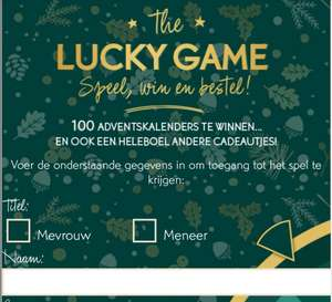 Lucky game bij Yves Rocher - kans op gratis adventskalender
