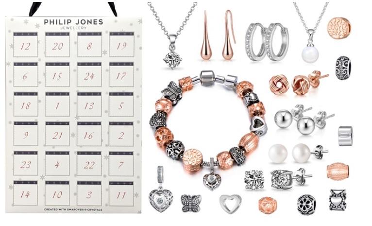 Groupon: tot 79% korting op Adventskalender met 24 sieraden versierd met Swarovski®-kristallen