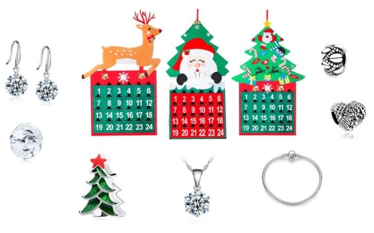 Groupon: 83% korting op adventskalenders met Swarovski®-kristallen sieraden