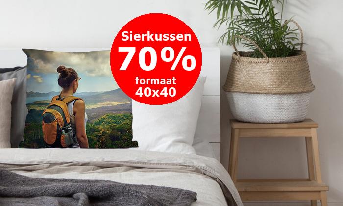 Foto op sierkussen - 40x40 cm - voor € 14,38