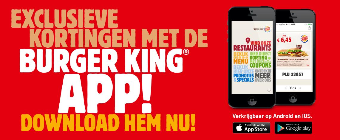 9 King Nuggets voor €1,45 @ Burger King app