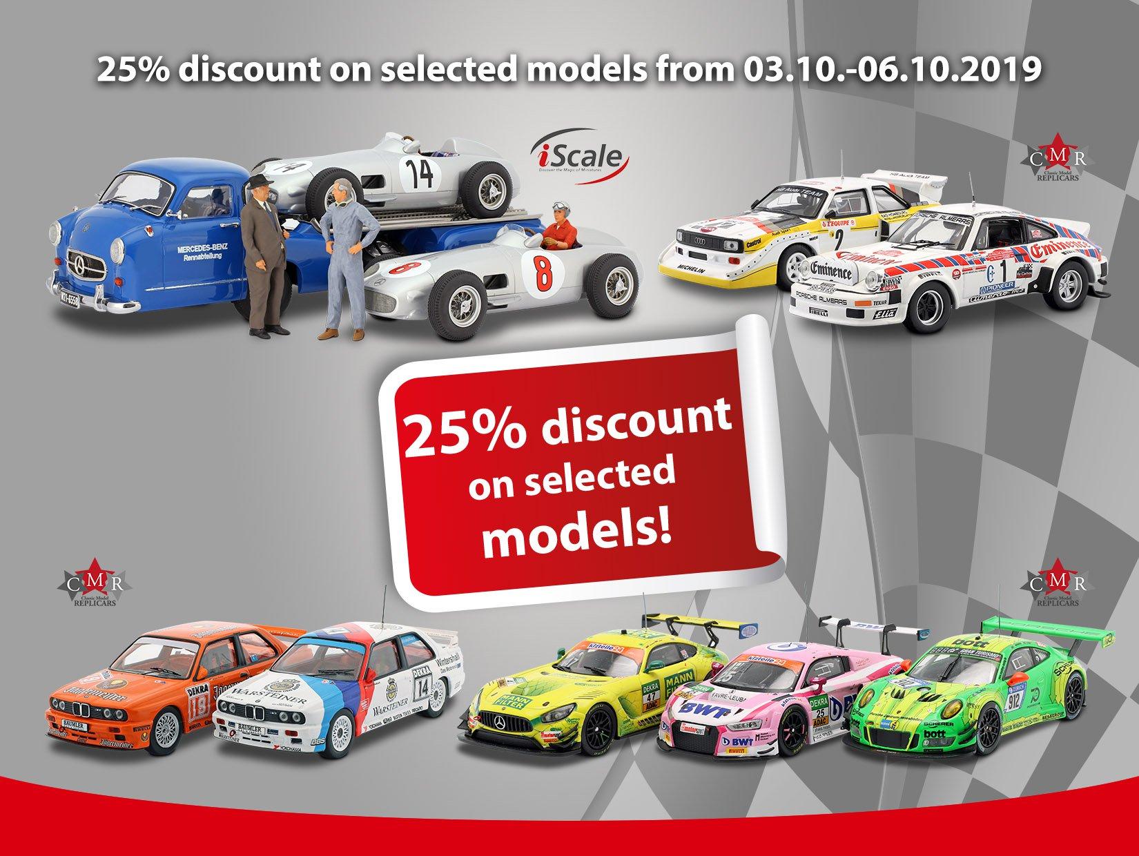 25% korting op meer dan 400 geselecteerde modelauto's @CK-Modelcars