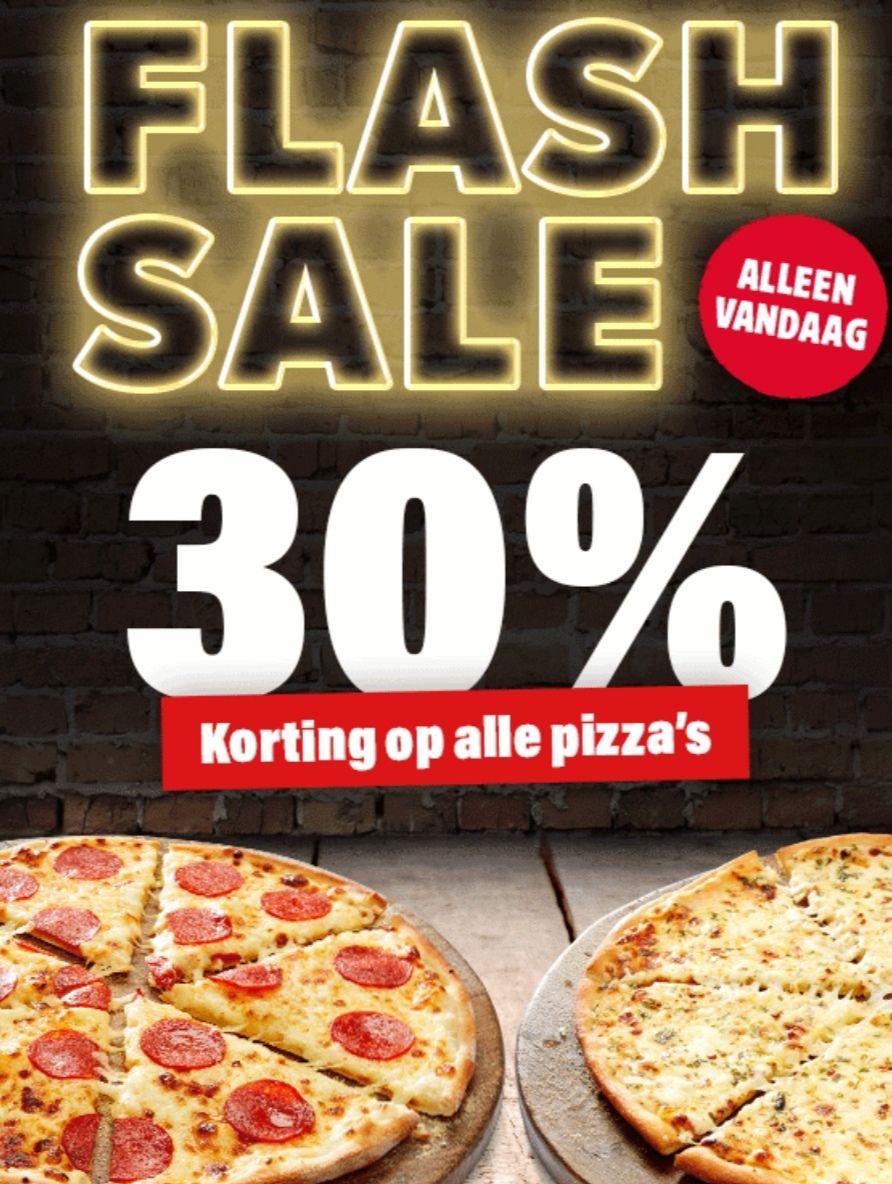 30% korting op PIZZA'S bij Domino's [Flash Sale]