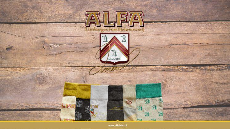 één paar ALFA sokken gratis bij aankoop van een krat ALFA Edel Pils